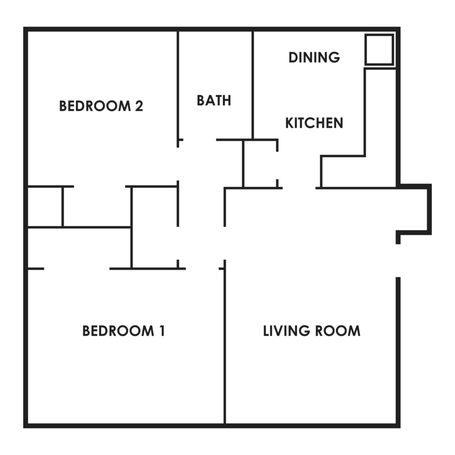 2 Bedrooms 1 Bathroom Apartment for rent at Flats On 75Th in Omaha, NE