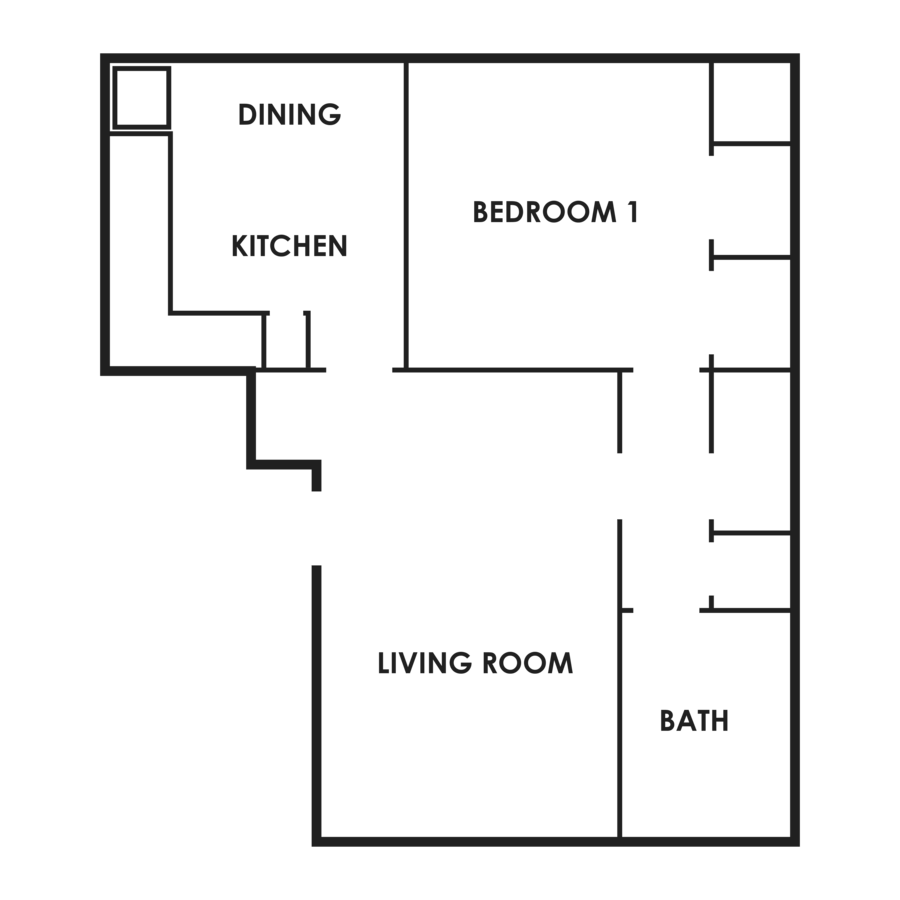 1 Bedroom 1 Bathroom Apartment for rent at Flats On 75Th in Omaha, NE