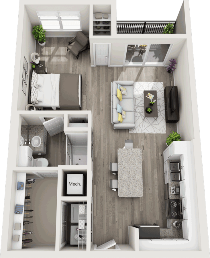 Studio 1 Bathroom Apartment for rent at Duke Of Omaha in Omaha, NE