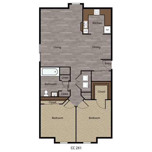 2 Bedrooms 1 Bathroom Apartment for rent at Coppercreek in Council Bluffs, IA