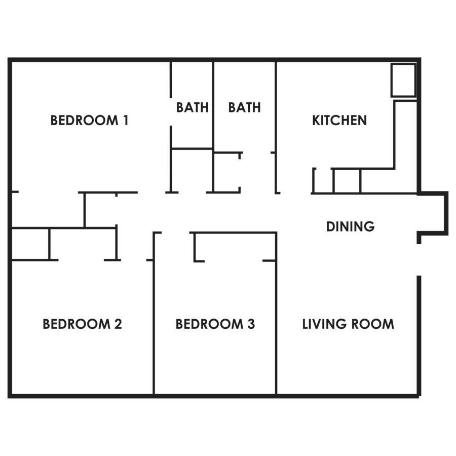 3 Bedrooms 1 Bathroom Apartment for rent at Flats On 75Th in Omaha, NE