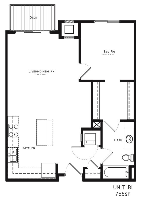 1 Bedroom 1 Bathroom Apartment for rent at Square At 48 in Lincoln, NE