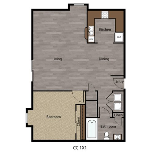 1 Bedroom 1 Bathroom Apartment for rent at Coppercreek in Council Bluffs, IA