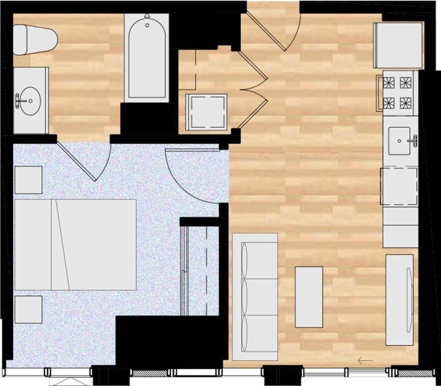 1 Bedroom 1 Bathroom Apartment for rent at The Collective On 4th in Portland, OR
