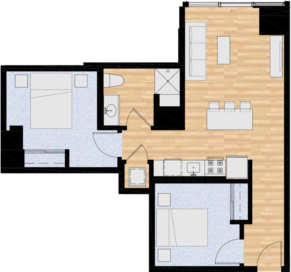 2 Bedrooms 1 Bathroom Apartment for rent at The Collective On 4th in Portland, OR