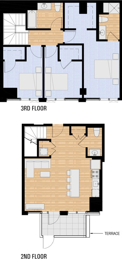 3 Bedrooms 2 Bathrooms Apartment for rent at The Collective On 4th in Portland, OR