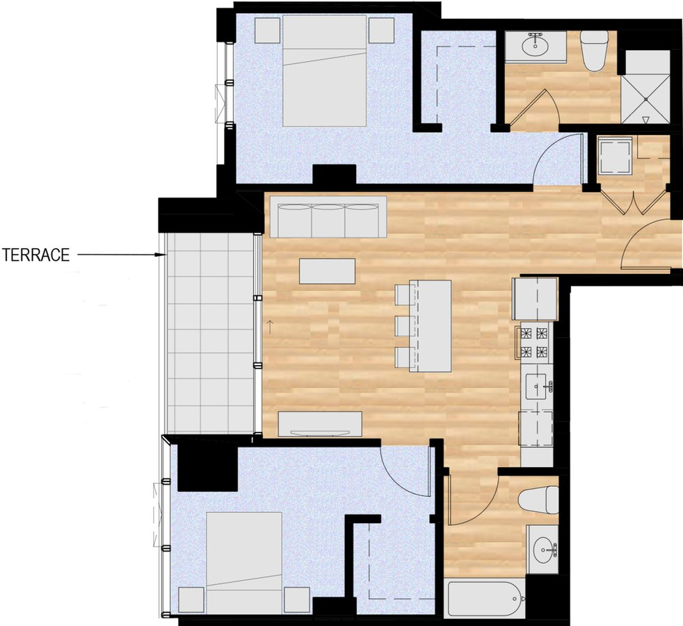 2 Bedrooms 2 Bathrooms Apartment for rent at The Collective On 4th in Portland, OR