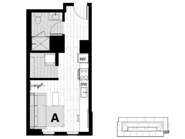 Studio 1 Bathroom Apartment for rent at Hub on Campus Gainesville University in Gainesville, FL