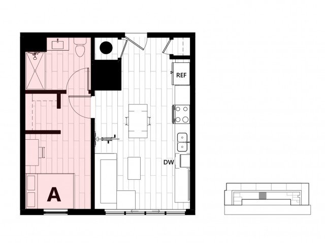 1 Bedroom 1 Bathroom Apartment for rent at Hub on Campus Gainesville University in Gainesville, FL