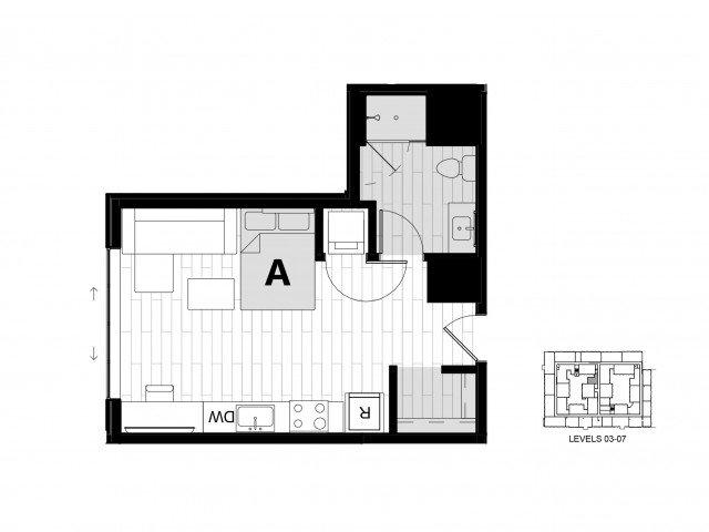 Studio 1 Bathroom Apartment for rent at Hub On Campus Gainesville 3rd Avenue in Gainesville, FL