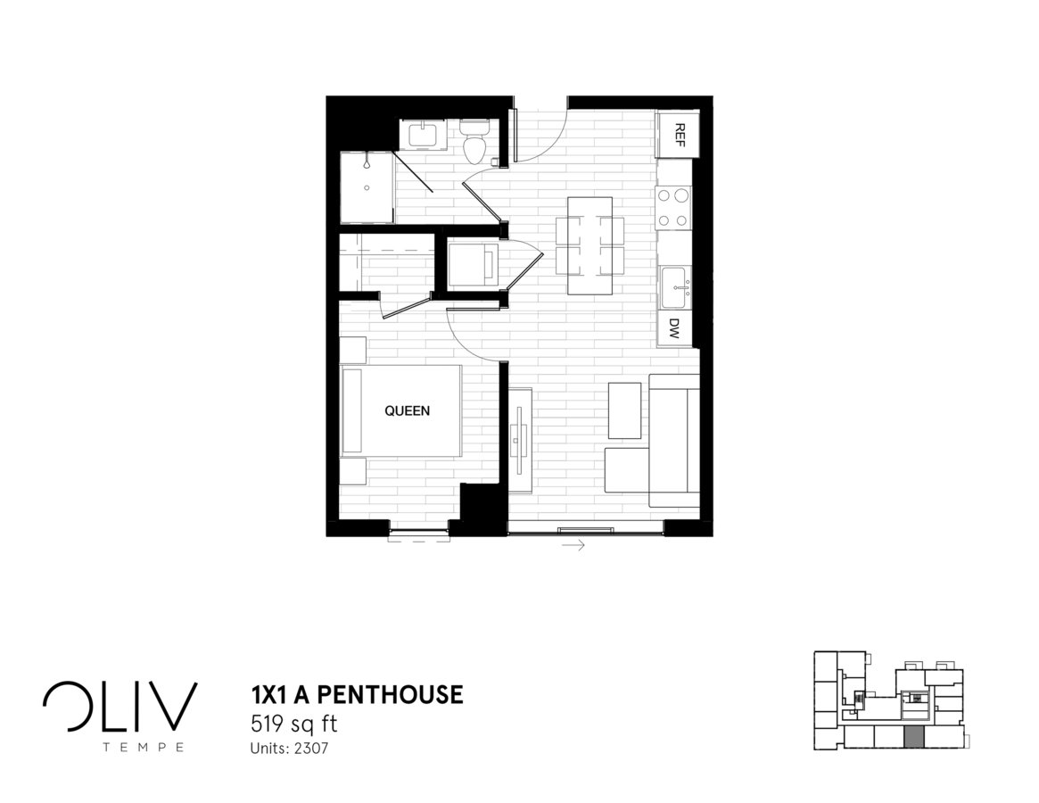 1 Bedroom 1 Bathroom Apartment for rent at ōliv Tempe in Tempe, AZ
