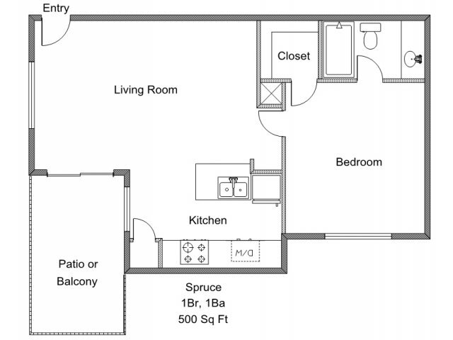 1 Bedroom 1 Bathroom Apartment for rent at Park Timbers in Lewisville, TX