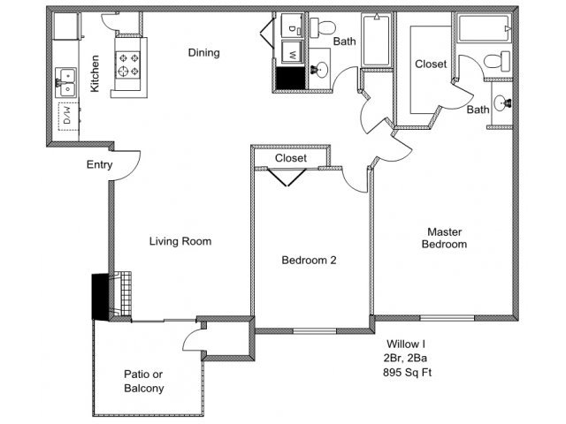 2 Bedrooms 2 Bathrooms Apartment for rent at Park Timbers in Lewisville, TX