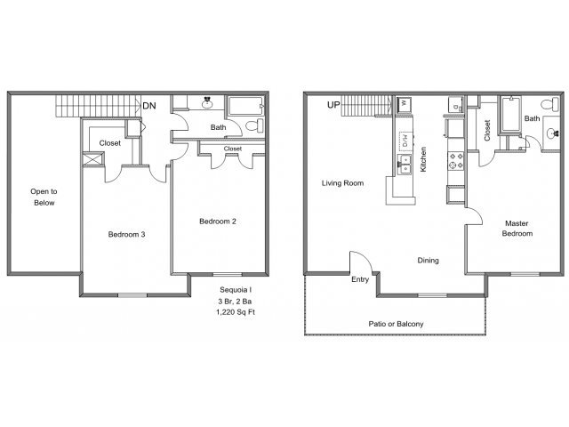 3 Bedrooms 2 Bathrooms Apartment for rent at Park Timbers in Lewisville, TX