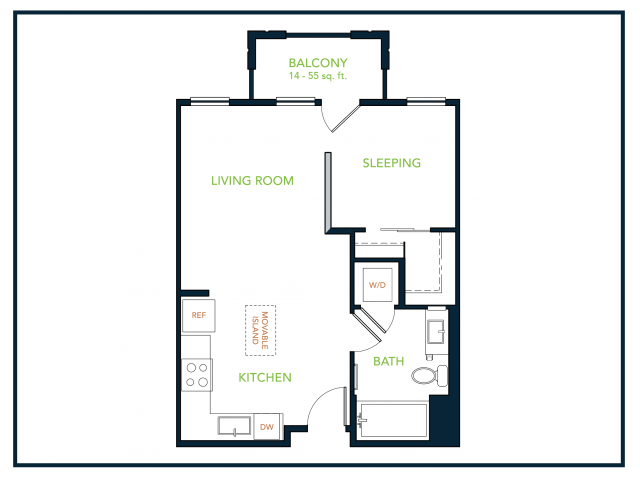 Studio 1 Bathroom Apartment for rent at Blu Harbor Apartments in Redwood City, CA