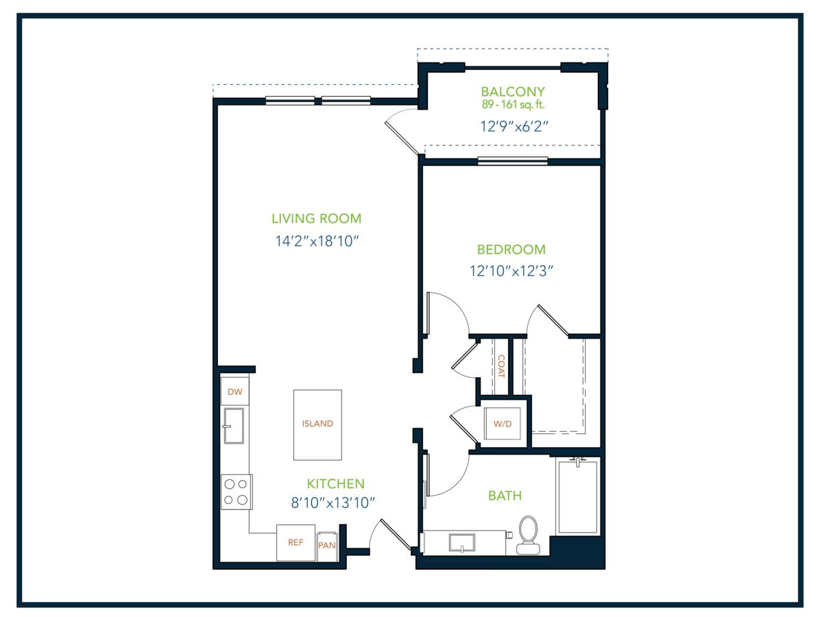 1 Bedroom 1 Bathroom Apartment for rent at Blu Harbor Apartments in Redwood City, CA