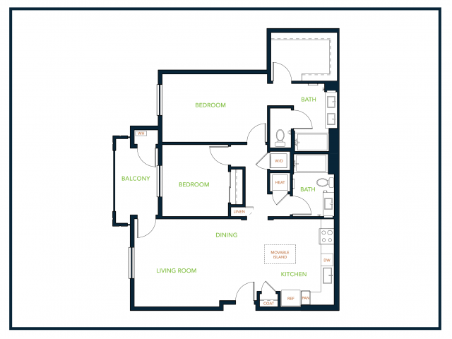 2 Bedrooms 2 Bathrooms Apartment for rent at Blu Harbor Apartments in Redwood City, CA