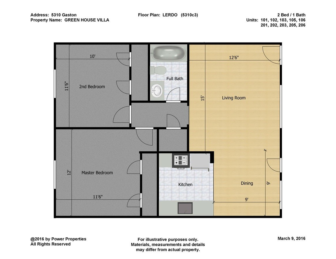 2 Bedrooms 1 Bathroom Apartment for rent at Green House Villa in Dallas, TX