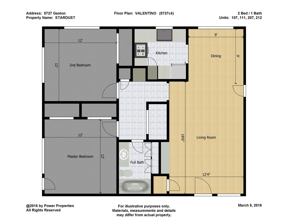 2 Bedrooms 1 Bathroom Apartment for rent at Stardust in Dallas, TX