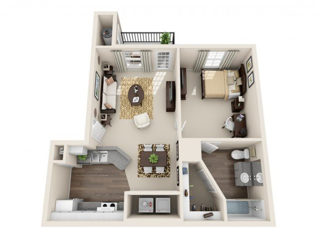 1 Bedroom 1 Bathroom Apartment for rent at Gateway At College Station in College Station, TX