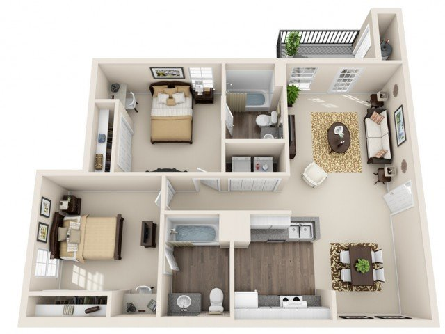 2 Bedrooms 2 Bathrooms Apartment for rent at Gateway At College Station in College Station, TX