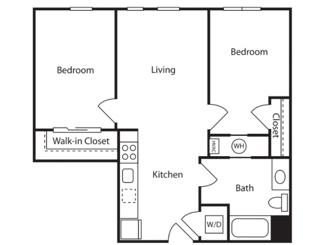 2 Bedrooms 1 Bathroom Apartment for rent at The Overlook at St. Gabriel's in Brighton, MA