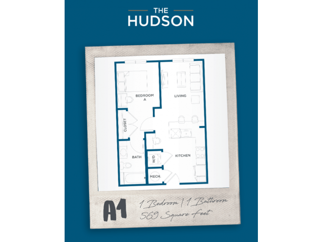 1 Bedroom 1 Bathroom Apartment for rent at The Hudson in College Station, TX