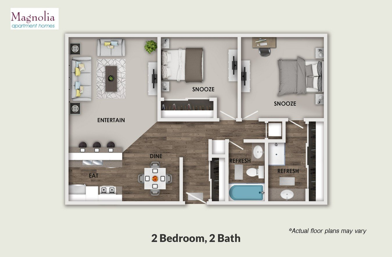 2 Bedrooms 2 Bathrooms Apartment for rent at Magnolia in Sherman Oaks, CA