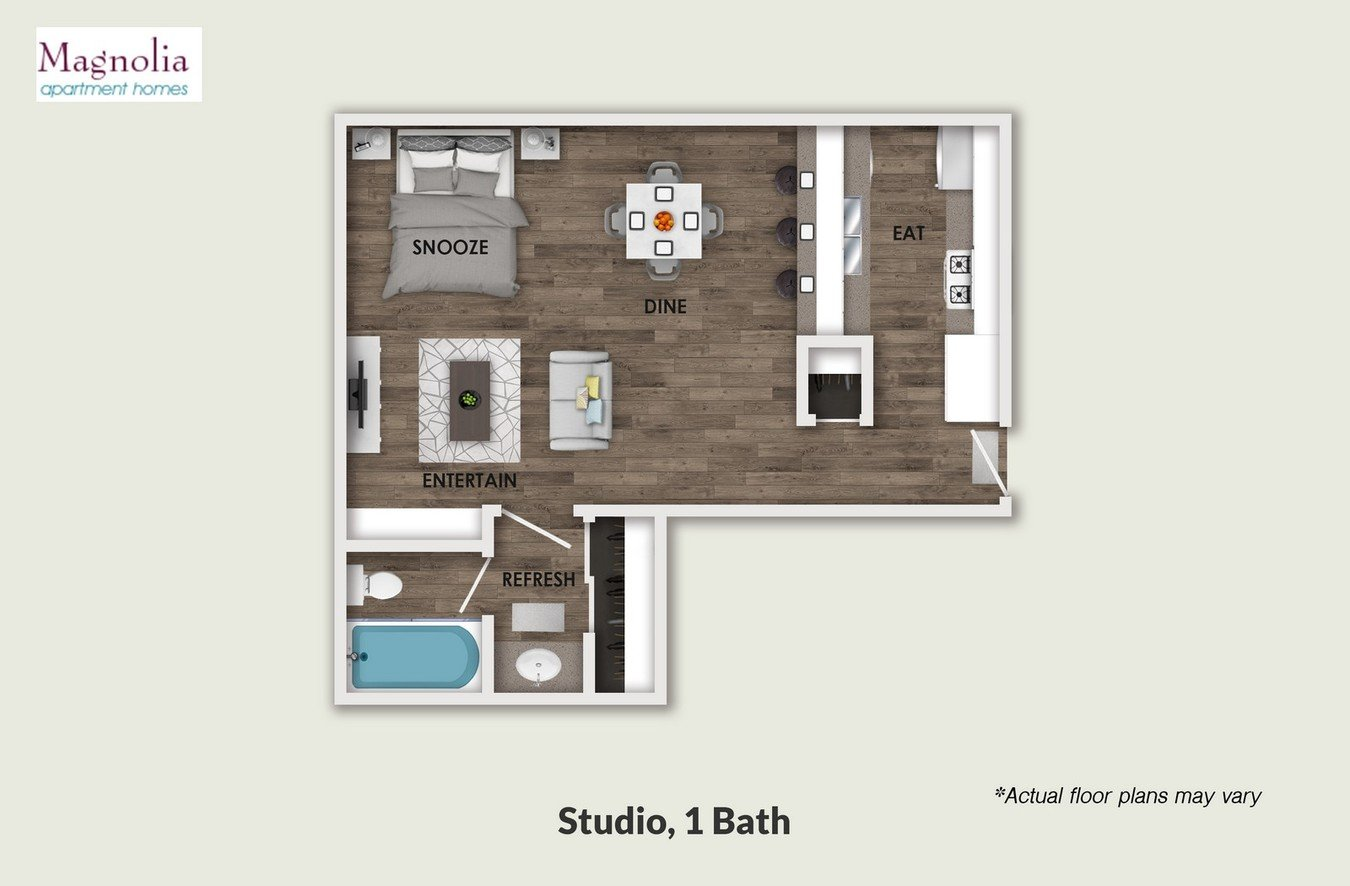 Studio 1 Bathroom Apartment for rent at Magnolia in Sherman Oaks, CA