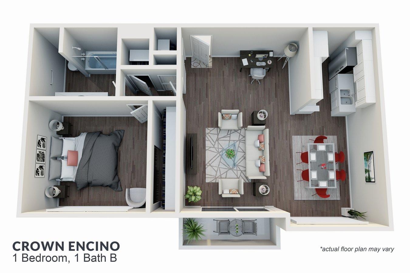 1 Bedroom 1 Bathroom Apartment for rent at Crown Encino Apartment Homes in Encino, CA