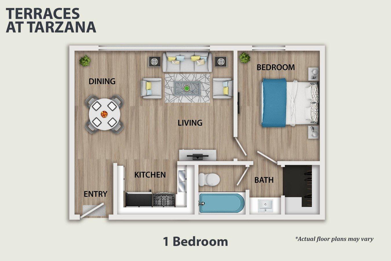 1 Bedroom 1 Bathroom Apartment for rent at Terraces at Tarzana in Tarzana, CA
