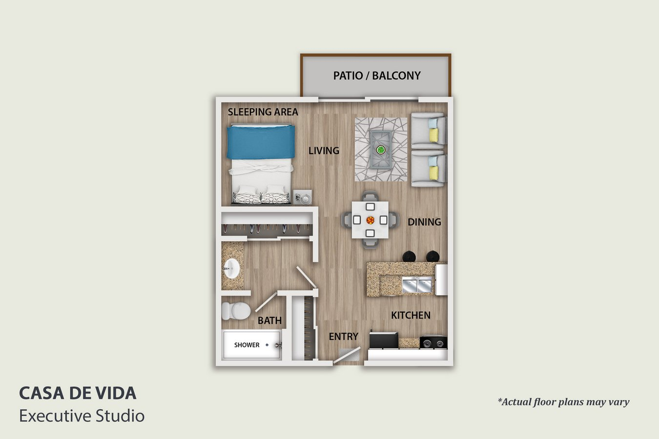 Studio 1 Bathroom Apartment for rent at Casa De Vida in Los Angeles, CA