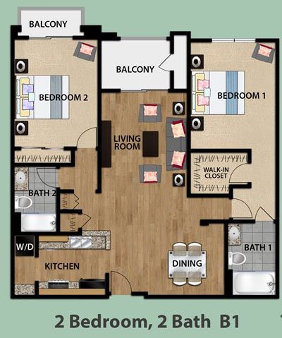 2 Bedrooms 2 Bathrooms Apartment for rent at Olive Encino in Encino, CA