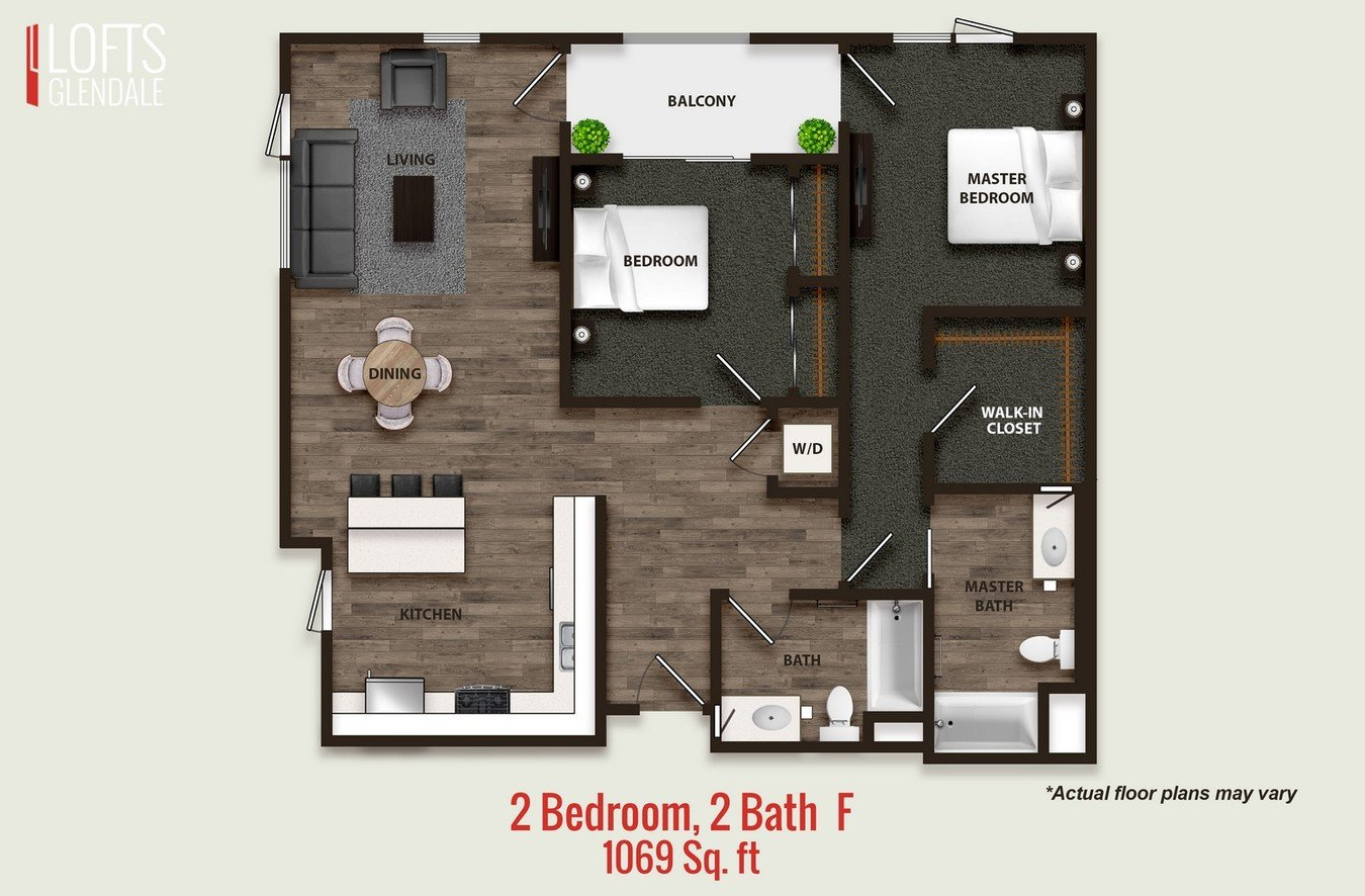 2 Bedrooms 2 Bathrooms Apartment for rent at L Lofts in Glendale, CA