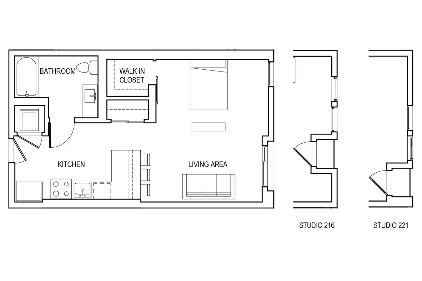 Studio 1 Bathroom Apartment for rent at &pico in Los Angeles, CA