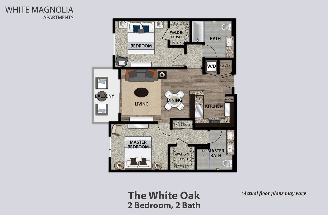 2 Bedrooms 2 Bathrooms Apartment for rent at White Magnolia in Encino, CA