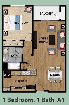 1 Bedroom 1 Bathroom Apartment for rent at Olive Encino in Encino, CA