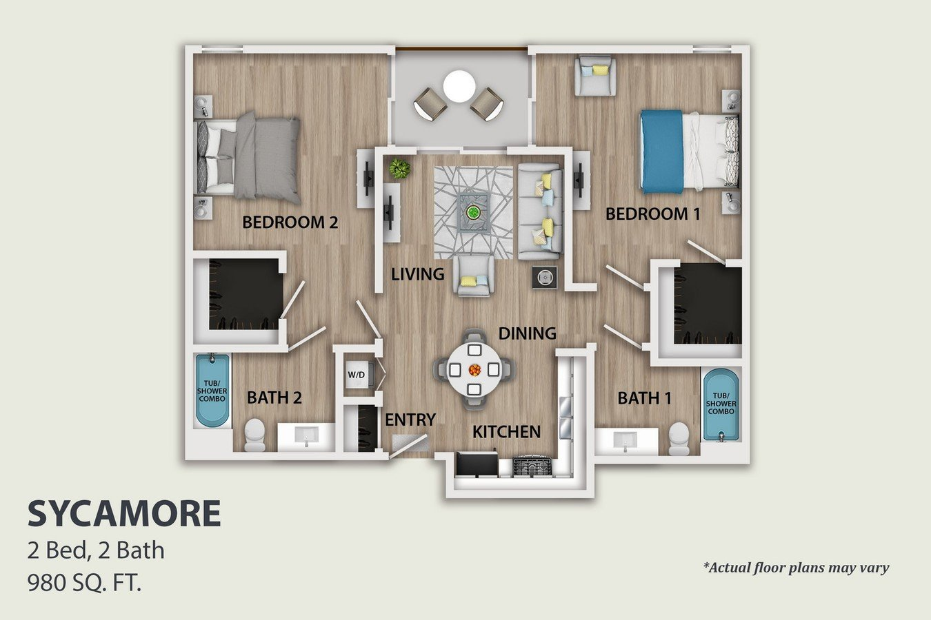 2 Bedrooms 2 Bathrooms Apartment for rent at SkyLA Tower in Van Nuys, CA