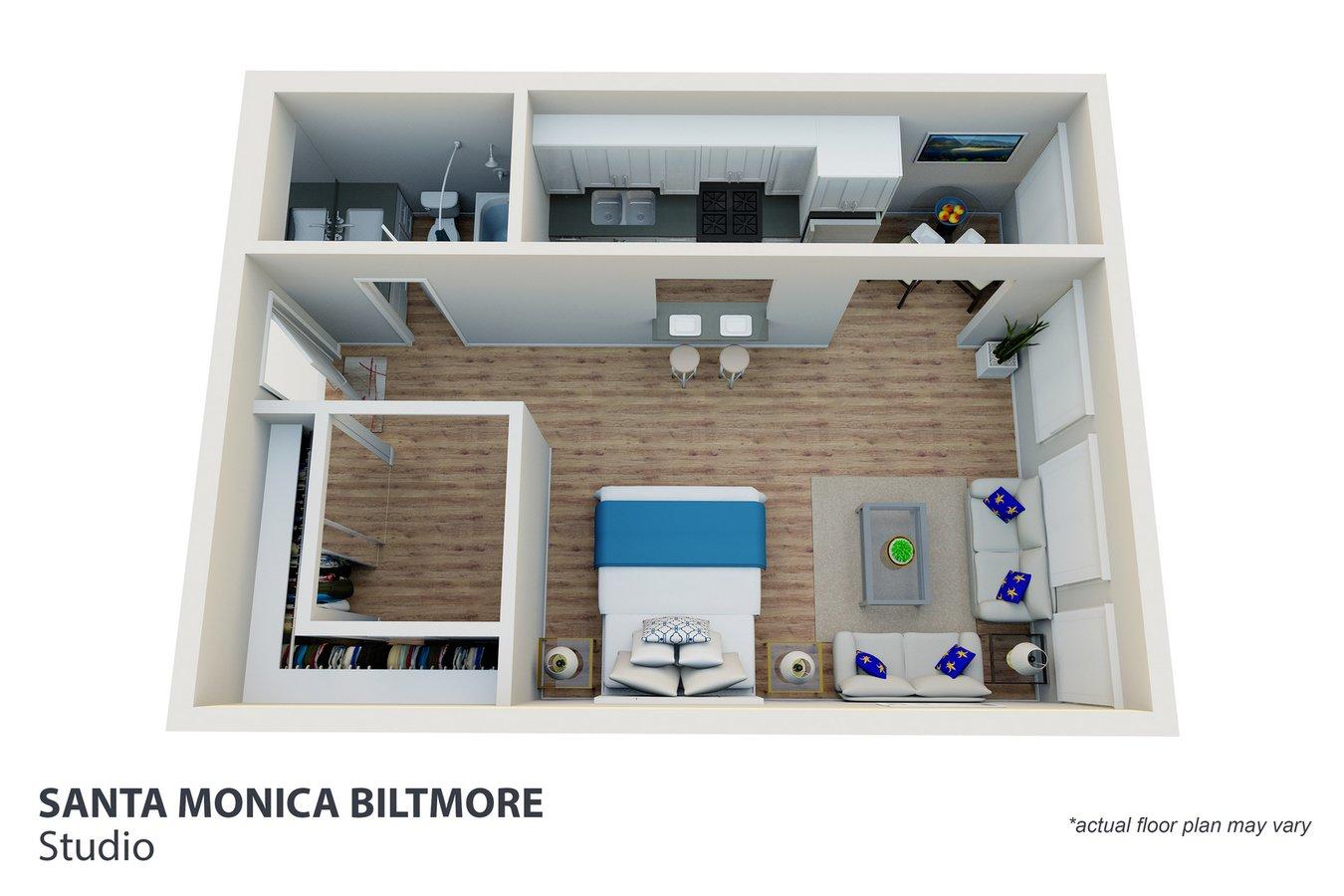Studio 1 Bathroom Apartment for rent at Santa Monica Biltmore in Santa Monica, CA