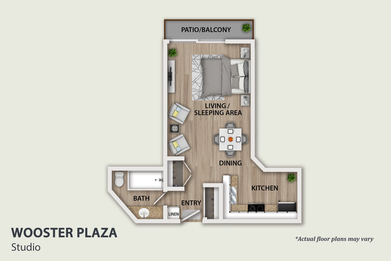 Studio 1 Bathroom Apartment for rent at Wooster in Los Angeles, CA