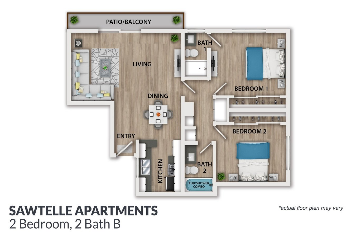2 Bedrooms 2 Bathrooms Apartment for rent at Sawtelle Avenue Apartments in Los Angeles, CA