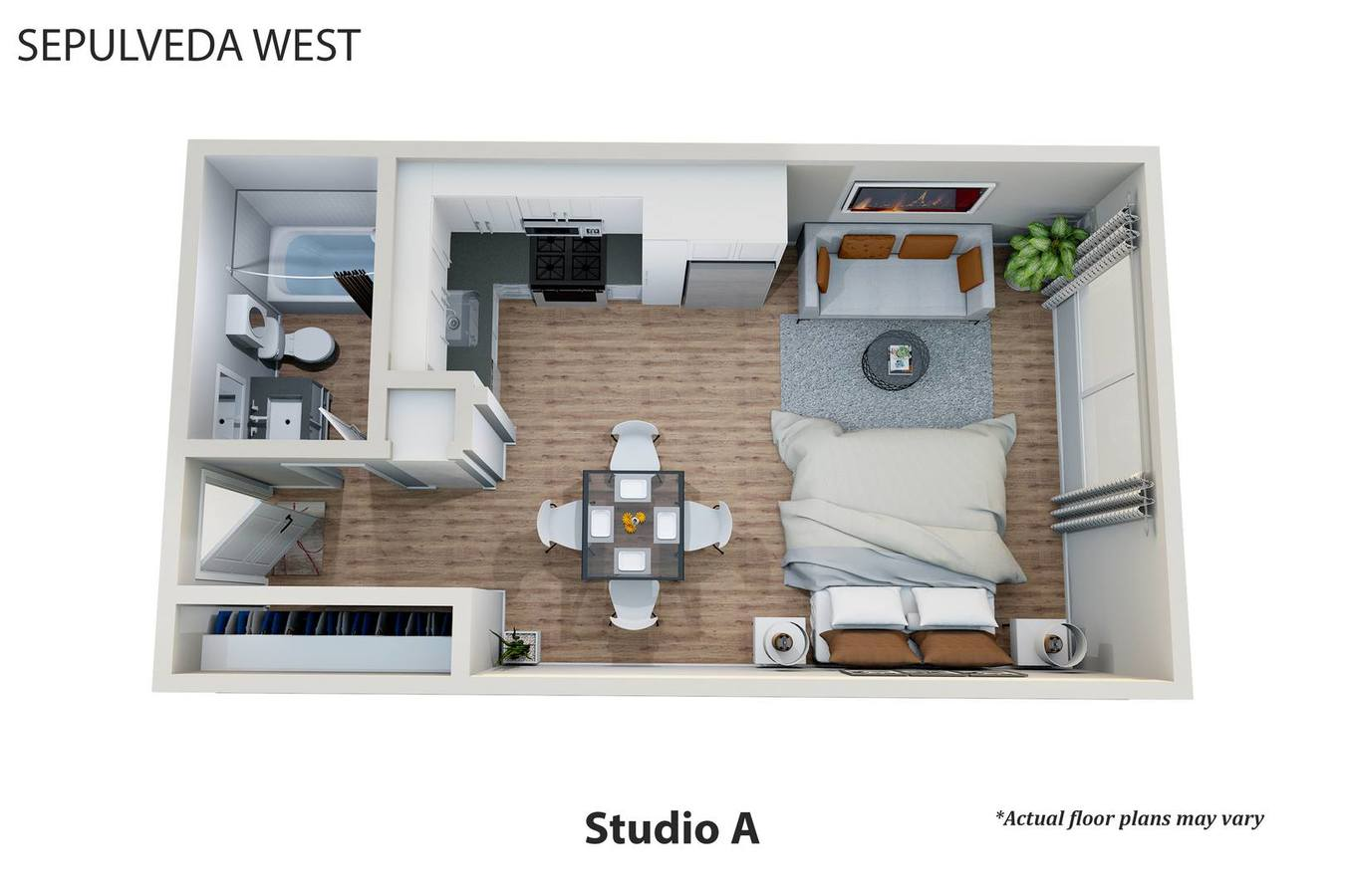 Studio 1 Bathroom Apartment for rent at Sepulveda West Apartments in Los Angeles, CA