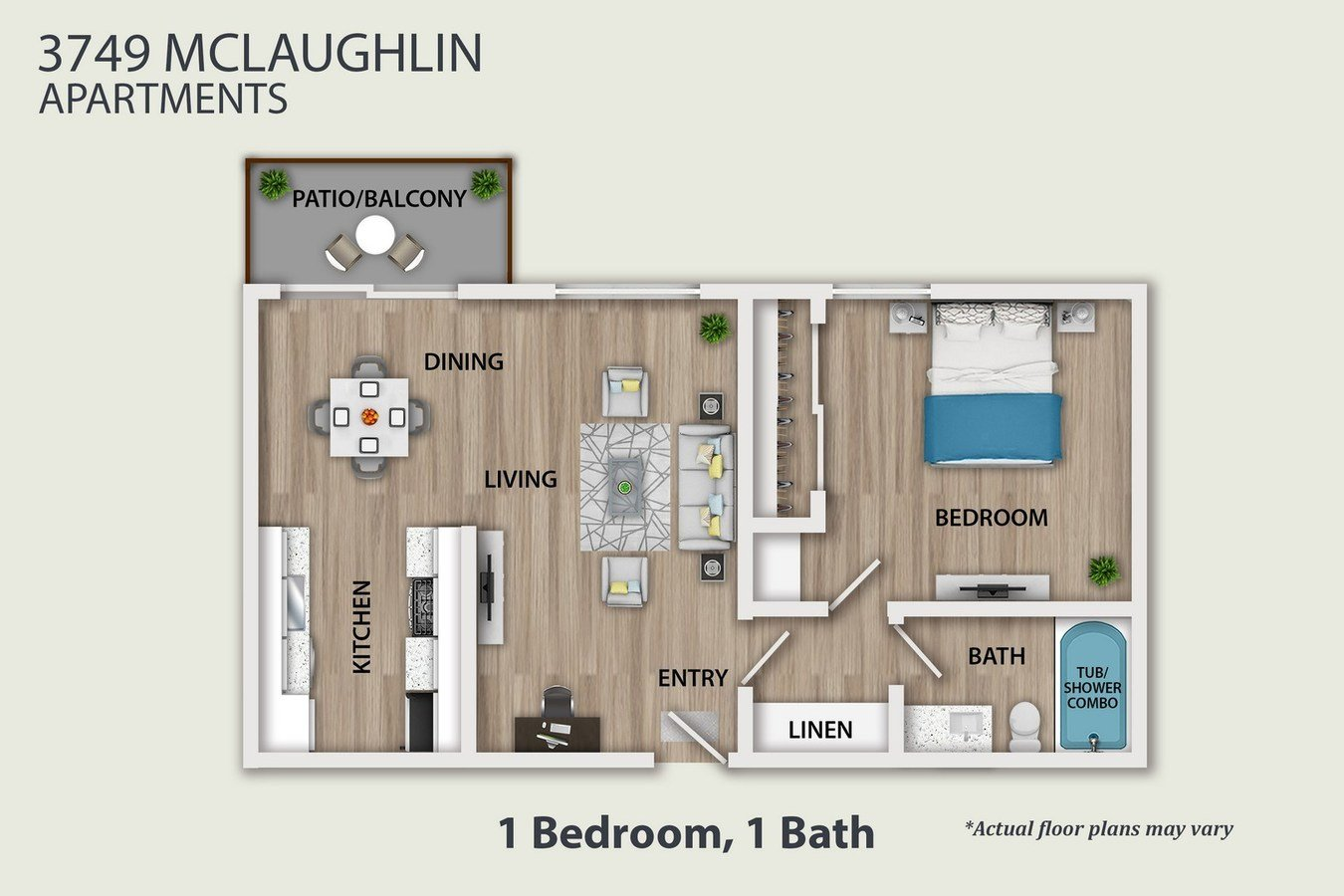 1 Bedroom 1 Bathroom Apartment for rent at 3749 Mclaughlin Ave. in Los Angeles, CA