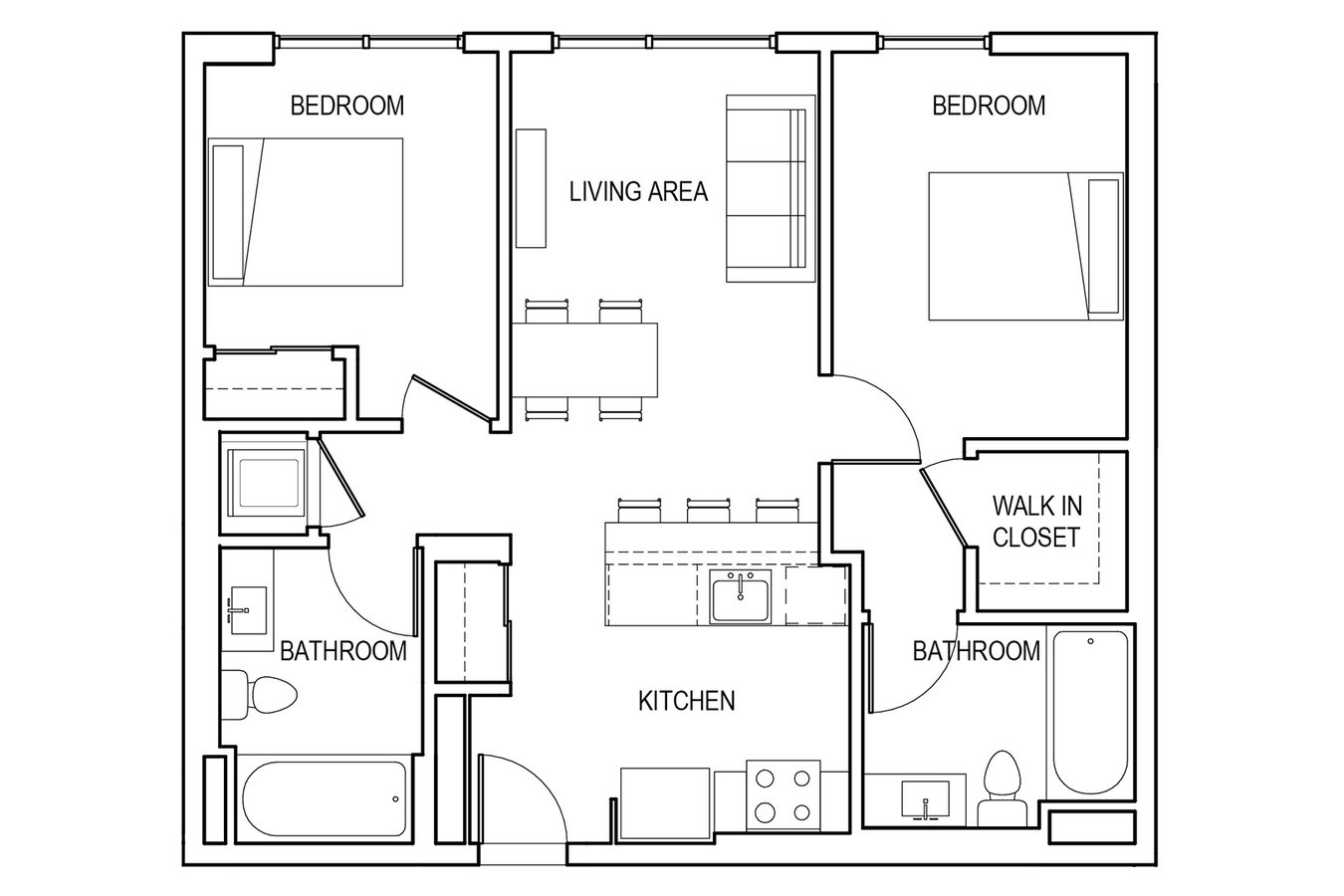2 Bedrooms 2 Bathrooms Apartment for rent at &pico in Los Angeles, CA