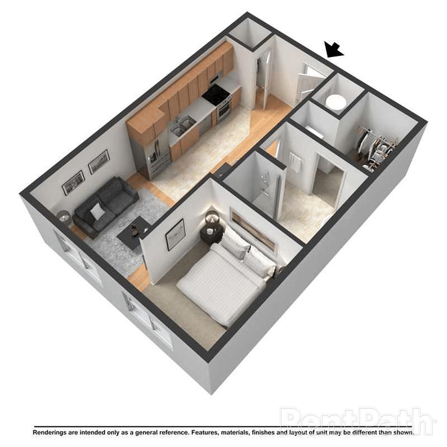 Studio 1 Bathroom Apartment for rent at Centerline in Omaha, NE