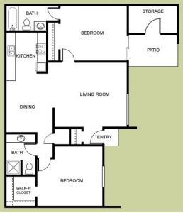 2 Bedrooms 2 Bathrooms Apartment for rent at Las Casitas in Avondale, AZ