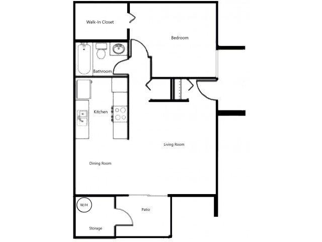 1 Bedroom 1 Bathroom Apartment for rent at Las Casitas in Avondale, AZ
