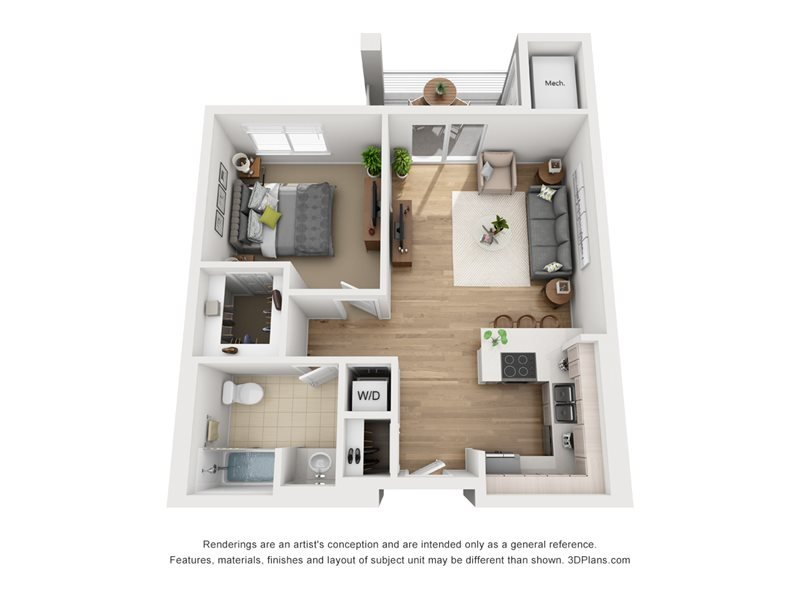1 Bedroom 1 Bathroom Apartment for rent at Latitude 37 in San Jose, CA