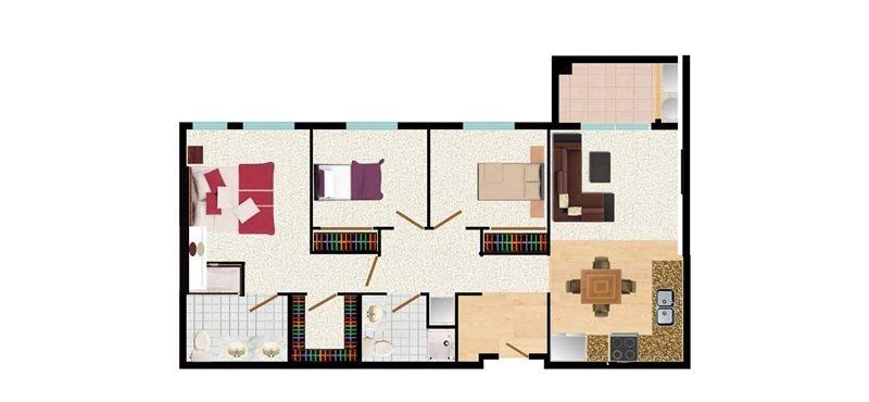 3 Bedrooms 2 Bathrooms Apartment for rent at Latitude 37 in San Jose, CA