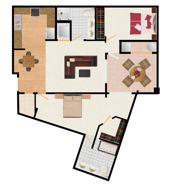 2 Bedrooms 2 Bathrooms Apartment for rent at Latitude 37 in San Jose, CA